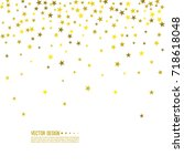 falling gold stars. abstract... | Shutterstock .eps vector #718618048