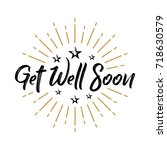 get well soon   fireworks  ... | Shutterstock .eps vector #718630579