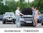 buying used car. car dealer... | Shutterstock . vector #718632424