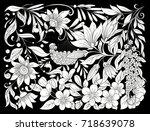 floral composition. spring...   Shutterstock .eps vector #718639078