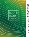 wave pattern gradient business... | Shutterstock .eps vector #718639639