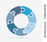 vector circle for infographic... | Shutterstock .eps vector #718643440