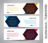 simple three color banner | Shutterstock .eps vector #718645486