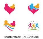 adoption and community care... | Shutterstock .eps vector #718646908