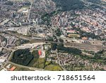 aerial view of the nysa city in ... | Shutterstock . vector #718651564