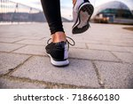 closeup look of the shoes of a... | Shutterstock . vector #718660180