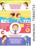 kids sport infographics... | Shutterstock .eps vector #718661713
