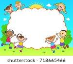 kids banner template horizontal ... | Shutterstock .eps vector #718665466