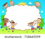 banner template horizontal... | Shutterstock .eps vector #718665559