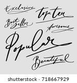 popular and beautiful hand... | Shutterstock .eps vector #718667929