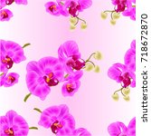 seamless texture orchid purple  ... | Shutterstock .eps vector #718672870