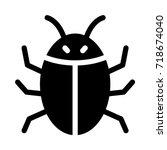 bug icon | Shutterstock .eps vector #718674040