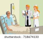 vector illustration of an old... | Shutterstock .eps vector #718674133