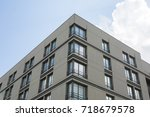 apartment block flat blocks... | Shutterstock . vector #718679578