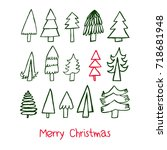 simple christmas card. merry