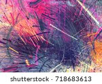 Bright color fireworks. Abstract painting multicolor  texture. Artistic motion holiday background. Modern multicolor futuristic dynamic pattern. Fractal artwork for creative graphic design