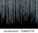 silver glitter festoons falling ... | Shutterstock .eps vector #718683778