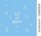 """let it snow"" card with... 