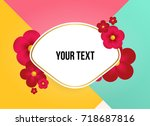 wonderful background with...   Shutterstock .eps vector #718687816