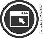 browser icon  dark circle sign...