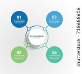circle infographic template... | Shutterstock .eps vector #718688656