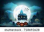 halloween pumpkins in graveyard ...