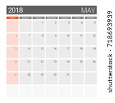 2018 May Calendar Or Desk...