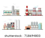 heavy industry power and... | Shutterstock .eps vector #718694803