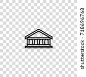 courthouse vector icon   Shutterstock .eps vector #718696768