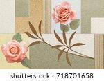 abstract home decorative art... | Shutterstock . vector #718701658