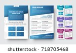 set of color vector flyers for... | Shutterstock .eps vector #718705468