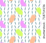 pattern with colorful brush... | Shutterstock .eps vector #718714156