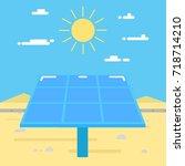 solar battery illustration....   Shutterstock . vector #718714210
