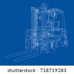 forklift concept. vector... | Shutterstock .eps vector #718719283