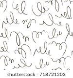seamless vector scrawl.... | Shutterstock .eps vector #718721203