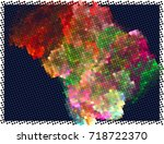 abstract background. spotted... | Shutterstock .eps vector #718722370