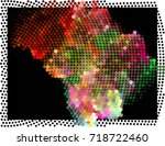 abstract background. spotted... | Shutterstock .eps vector #718722460