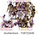 abstract background. spotted... | Shutterstock .eps vector #718722640