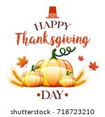 thanksgiving day card | Shutterstock . vector #718723210