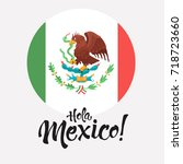 hola mexico illustration.... | Shutterstock .eps vector #718723660