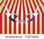 two female trapeze artists... | Shutterstock .eps vector #71872660