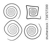 spiral set silhouette vector... | Shutterstock .eps vector #718727200