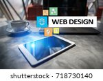 web design and development... | Shutterstock . vector #718730140