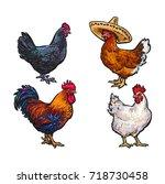 vector cartoon hand drawn... | Shutterstock .eps vector #718730458