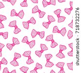 seamless pattern with bows.... | Shutterstock .eps vector #718732276