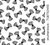 seamless pattern with bows.... | Shutterstock .eps vector #718732450