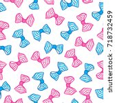 seamless pattern with bows.... | Shutterstock .eps vector #718732459