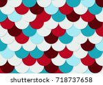 fish scale pattern  abstract... | Shutterstock .eps vector #718737658