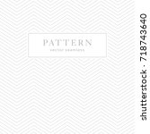 simple chevron seamless pattern.... | Shutterstock .eps vector #718743640
