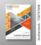 abstract flyer design... | Shutterstock .eps vector #718747648